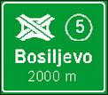 Predputokaz za čvorište autocesta s oznakom čvorišta